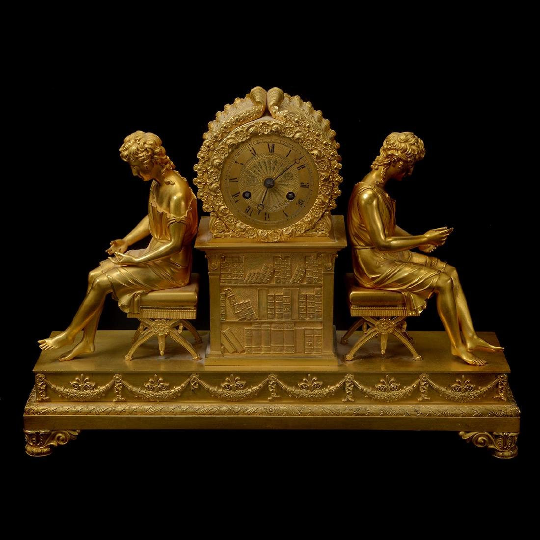 French Gilt Bronze Mantel Clock