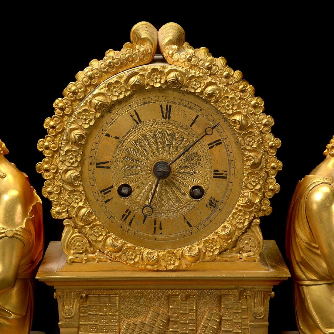 French Gilt Bronze Mantel Clock - 2