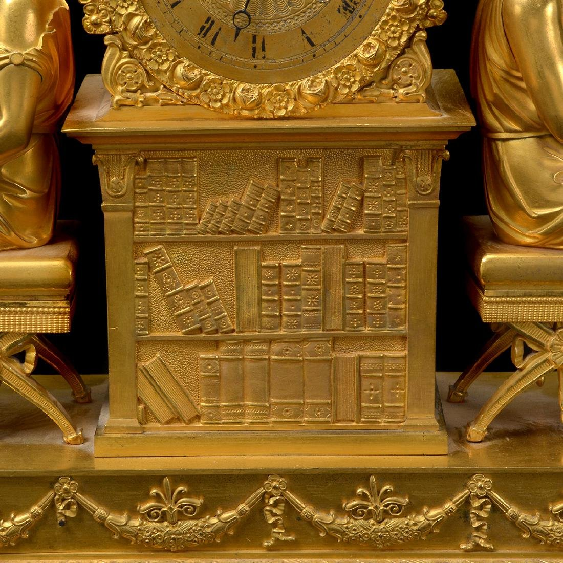 French Gilt Bronze Mantel Clock - 3