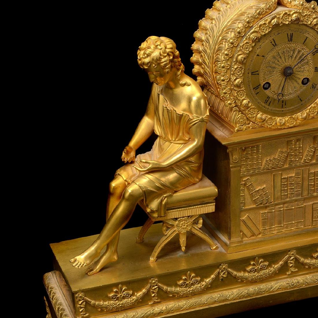 French Gilt Bronze Mantel Clock - 5