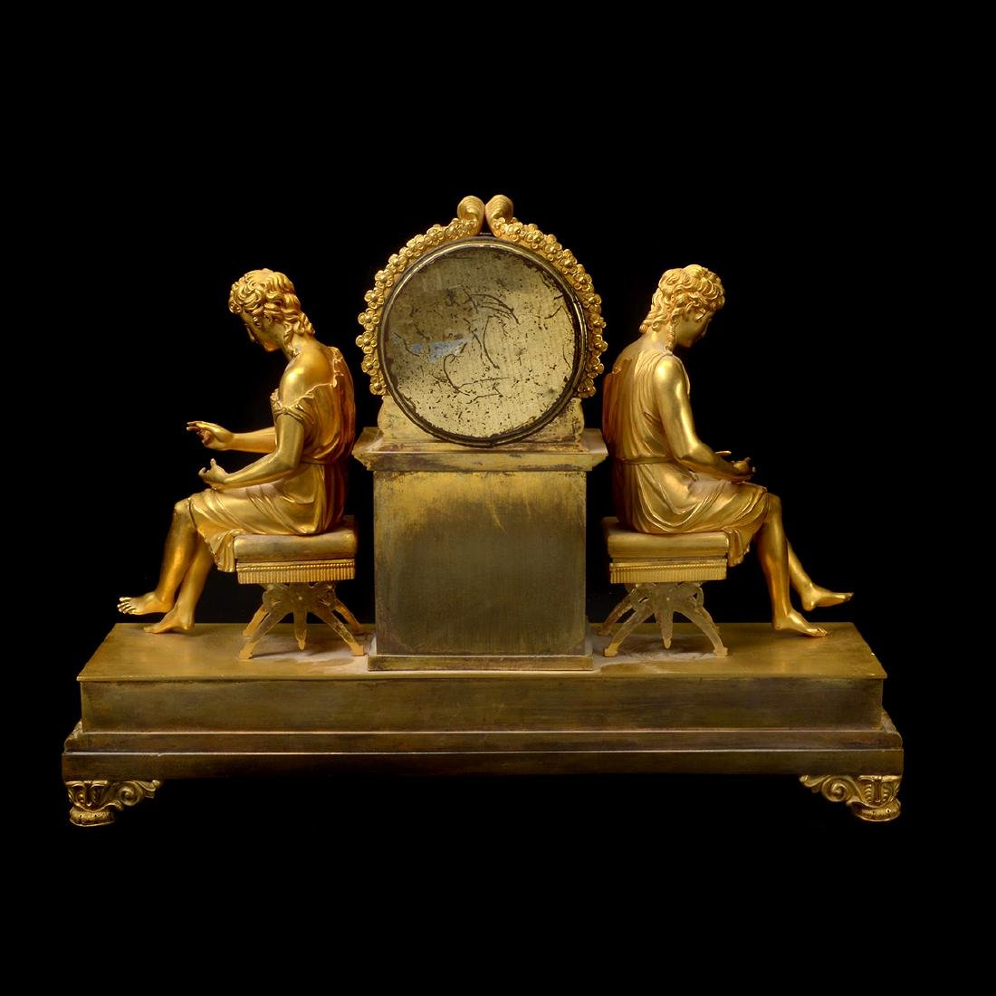 French Gilt Bronze Mantel Clock - 7