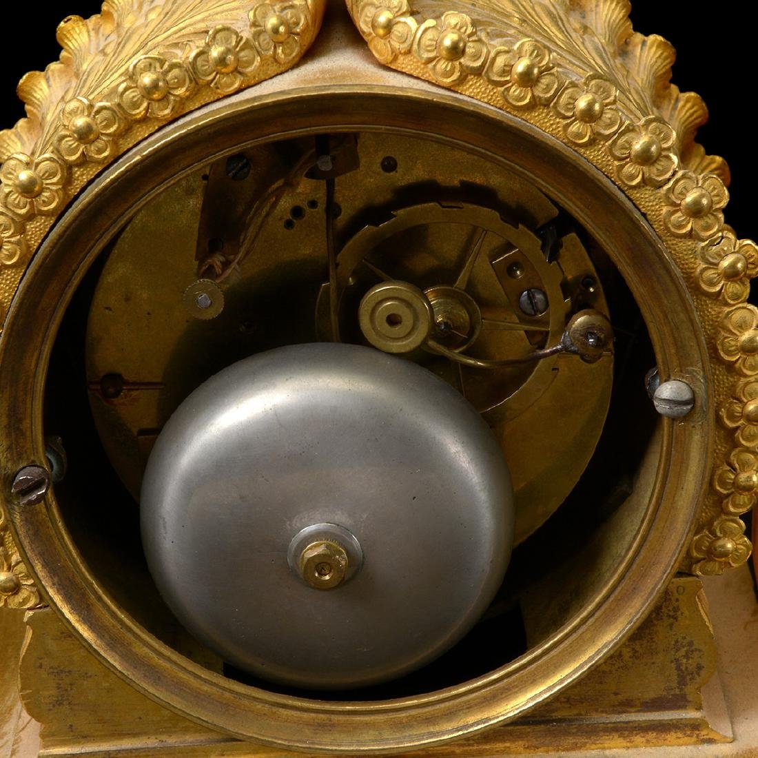 French Gilt Bronze Mantel Clock - 8