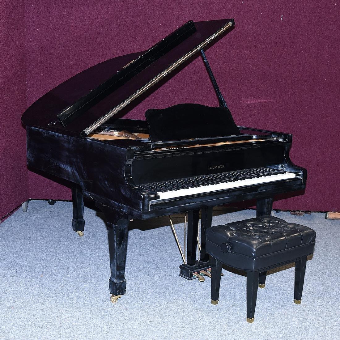 Samick Ebonized Grand Piano and Bench