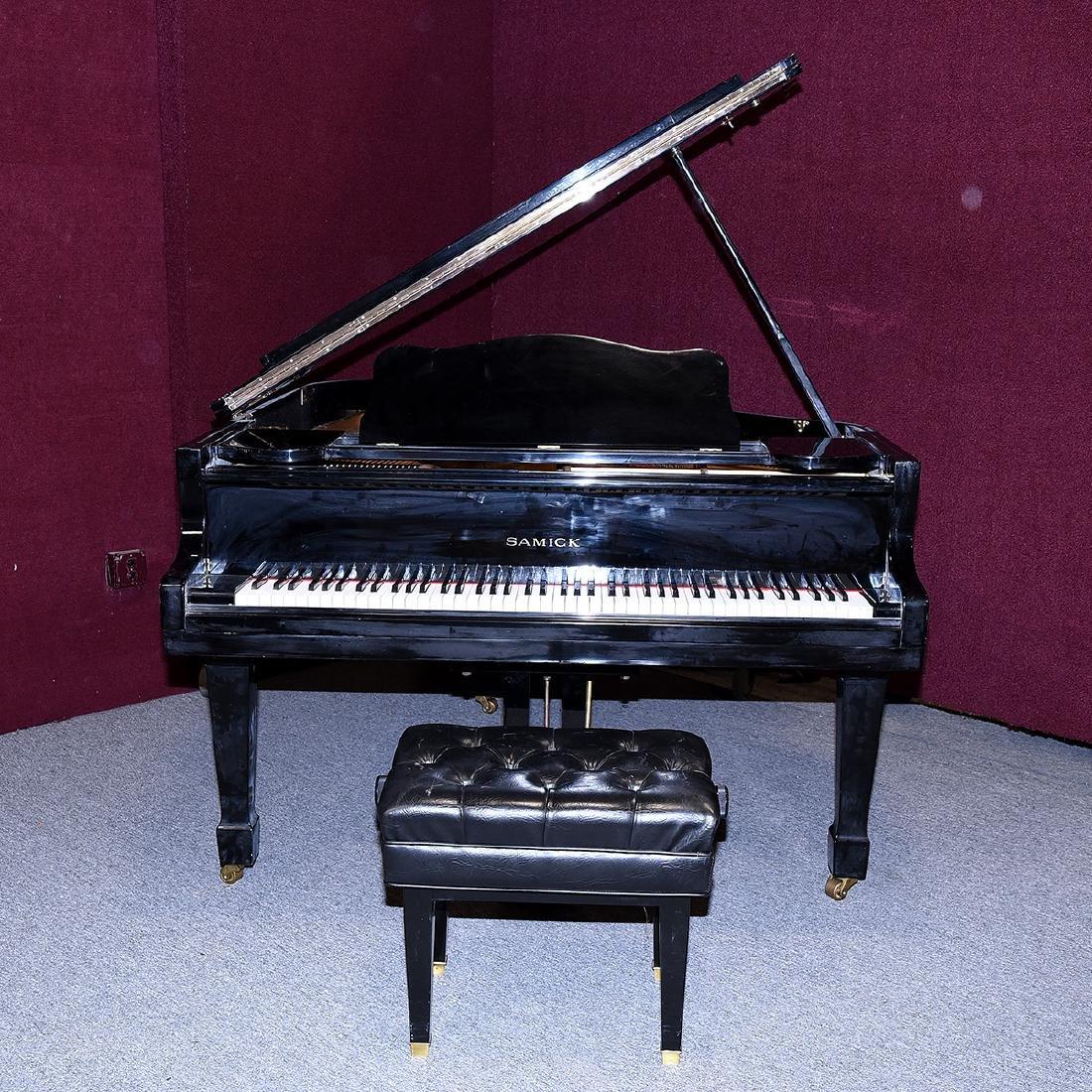 Samick Ebonized Grand Piano and Bench - 2