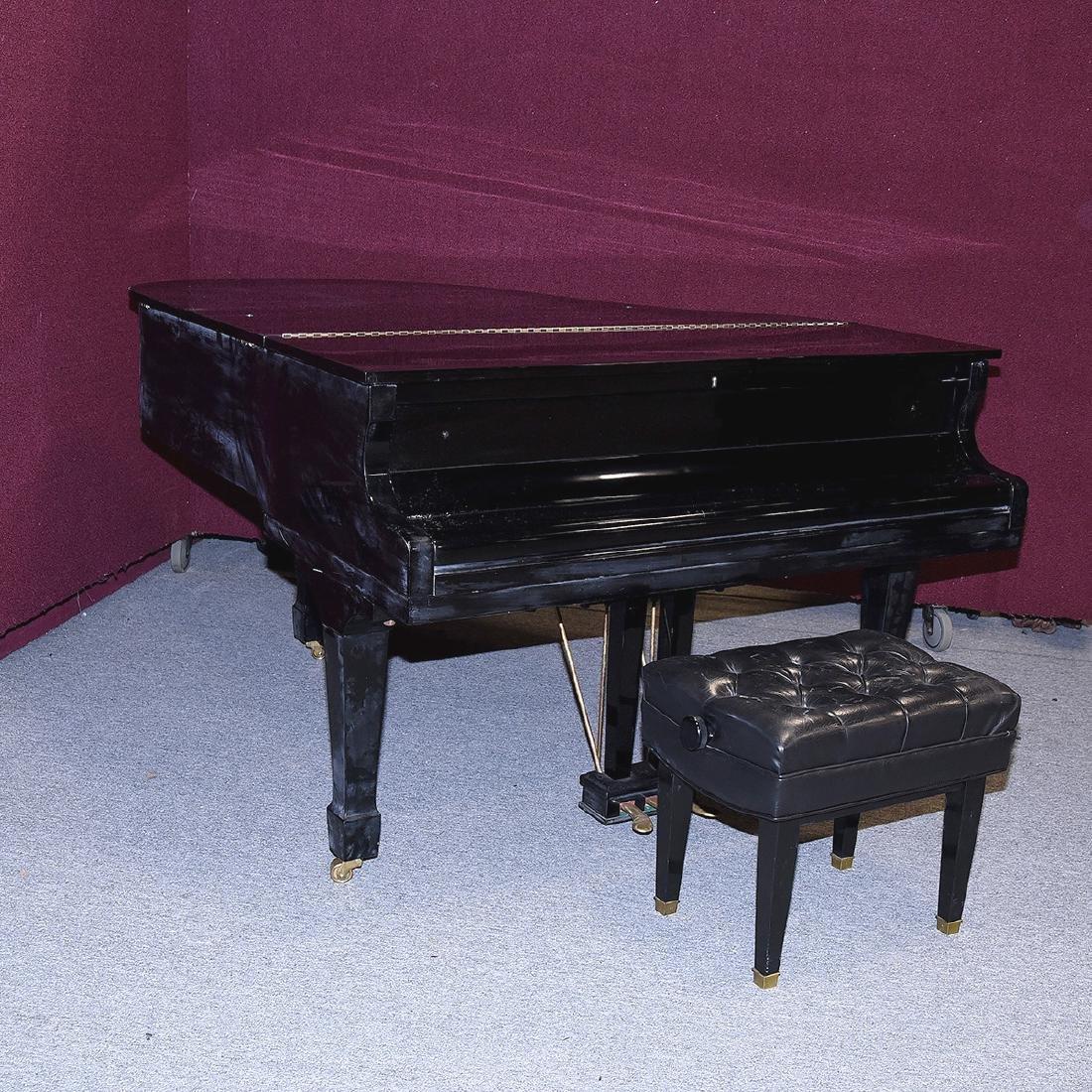 Samick Ebonized Grand Piano and Bench - 6