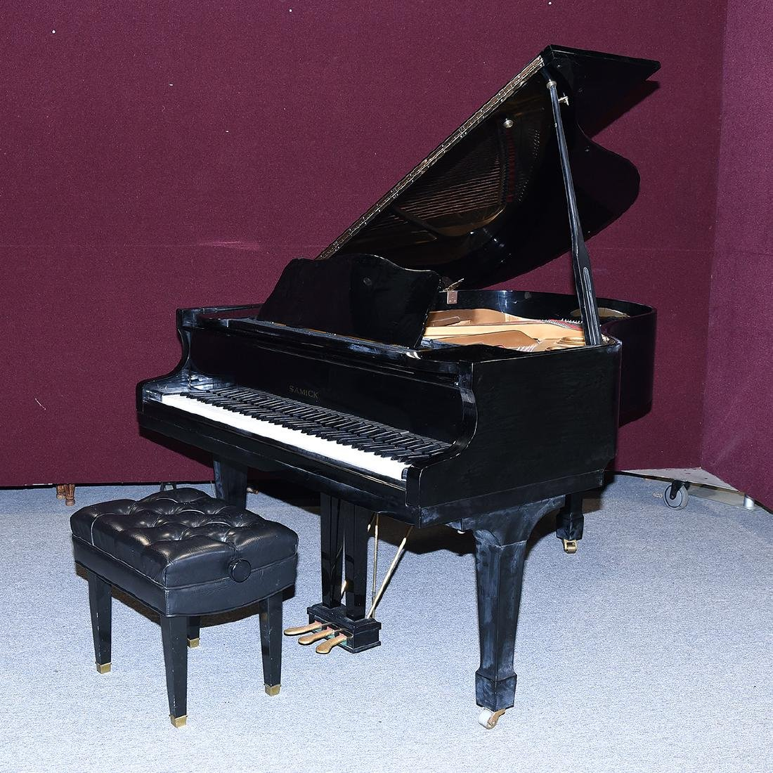 Samick Ebonized Grand Piano and Bench