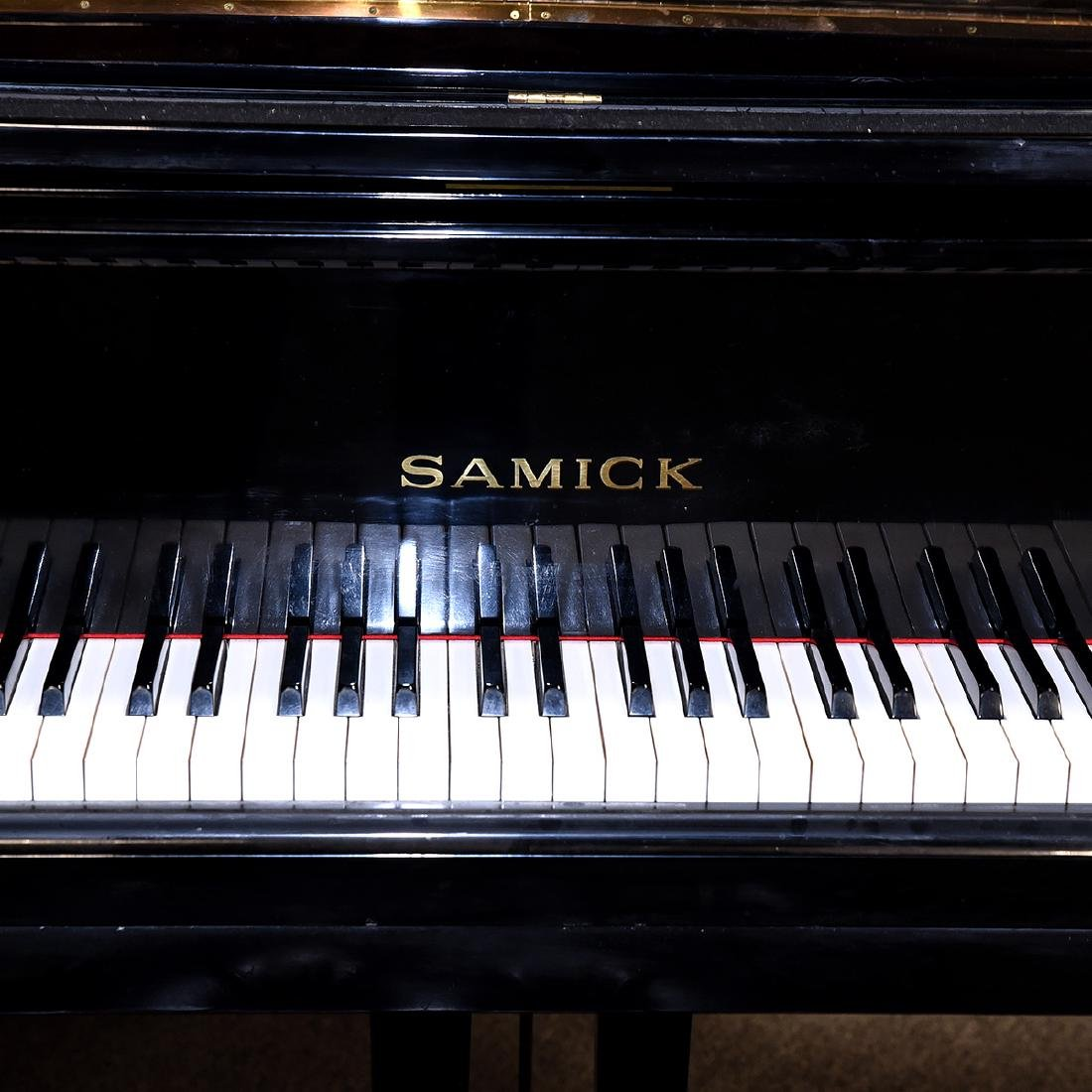 Samick Ebonized Grand Piano and Bench - 5