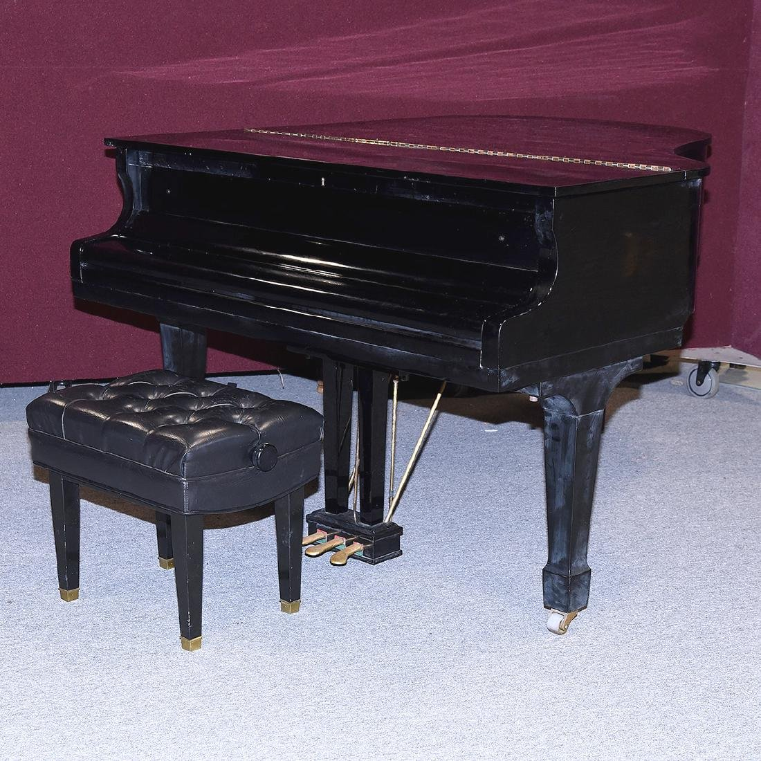 Samick Ebonized Grand Piano and Bench - 6