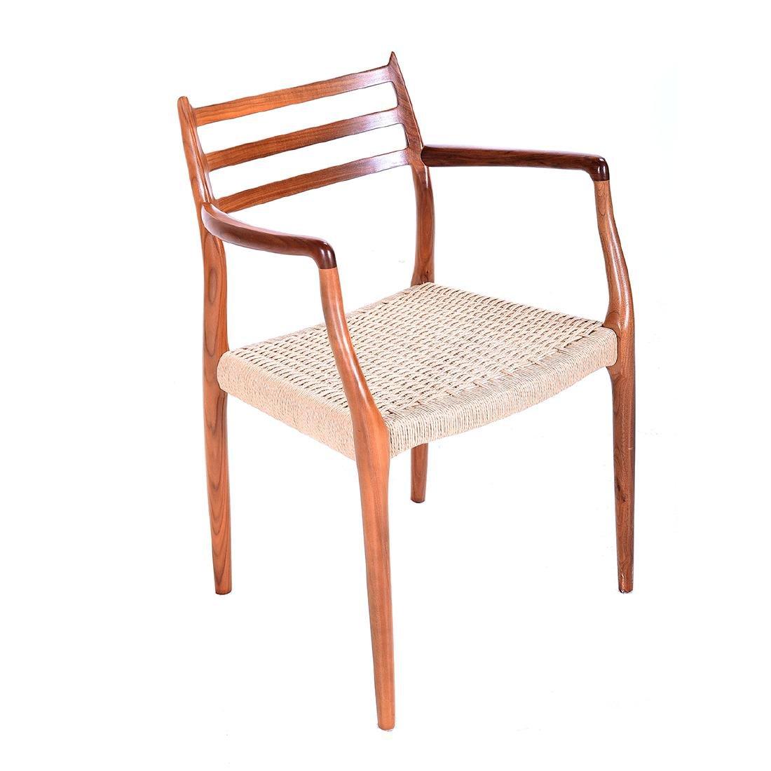 Moller Rush Seat Open Armchair