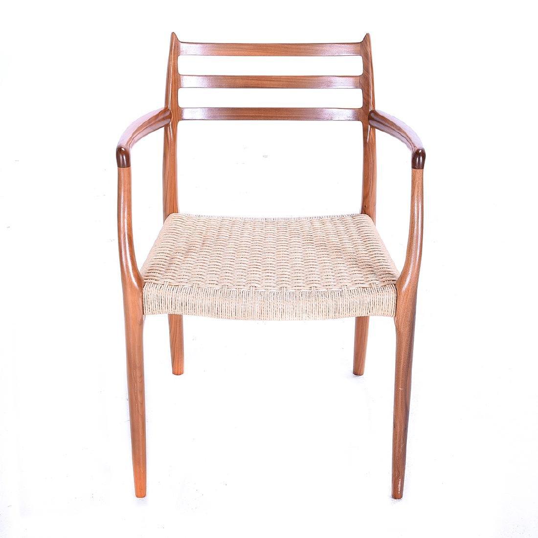 Moller Rush Seat Open Armchair - 2