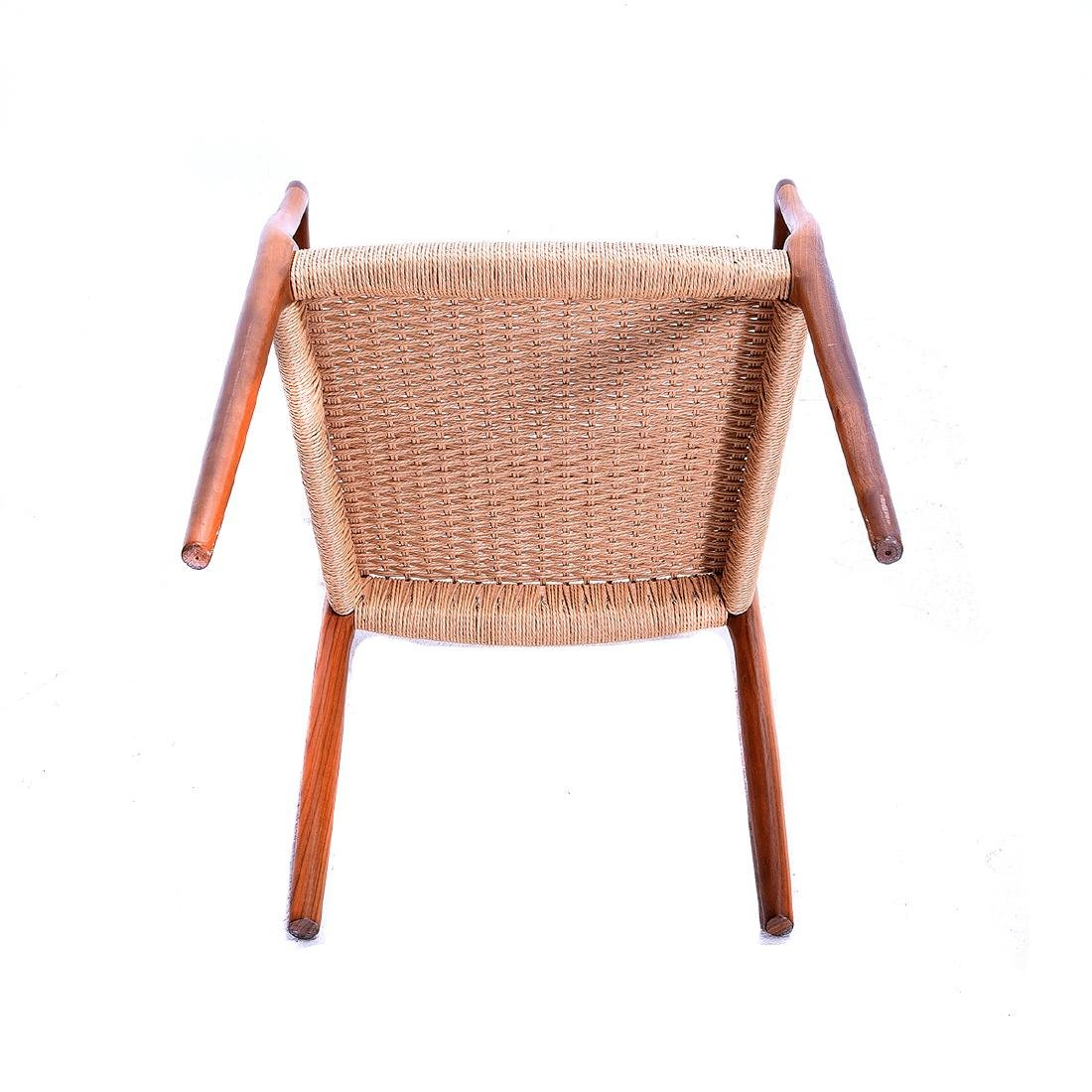Moller Rush Seat Open Armchair - 4