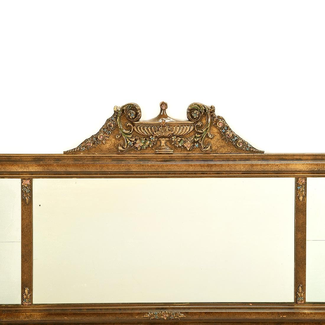 Classic Over Mantel Mirror, Attached Sconces - 2