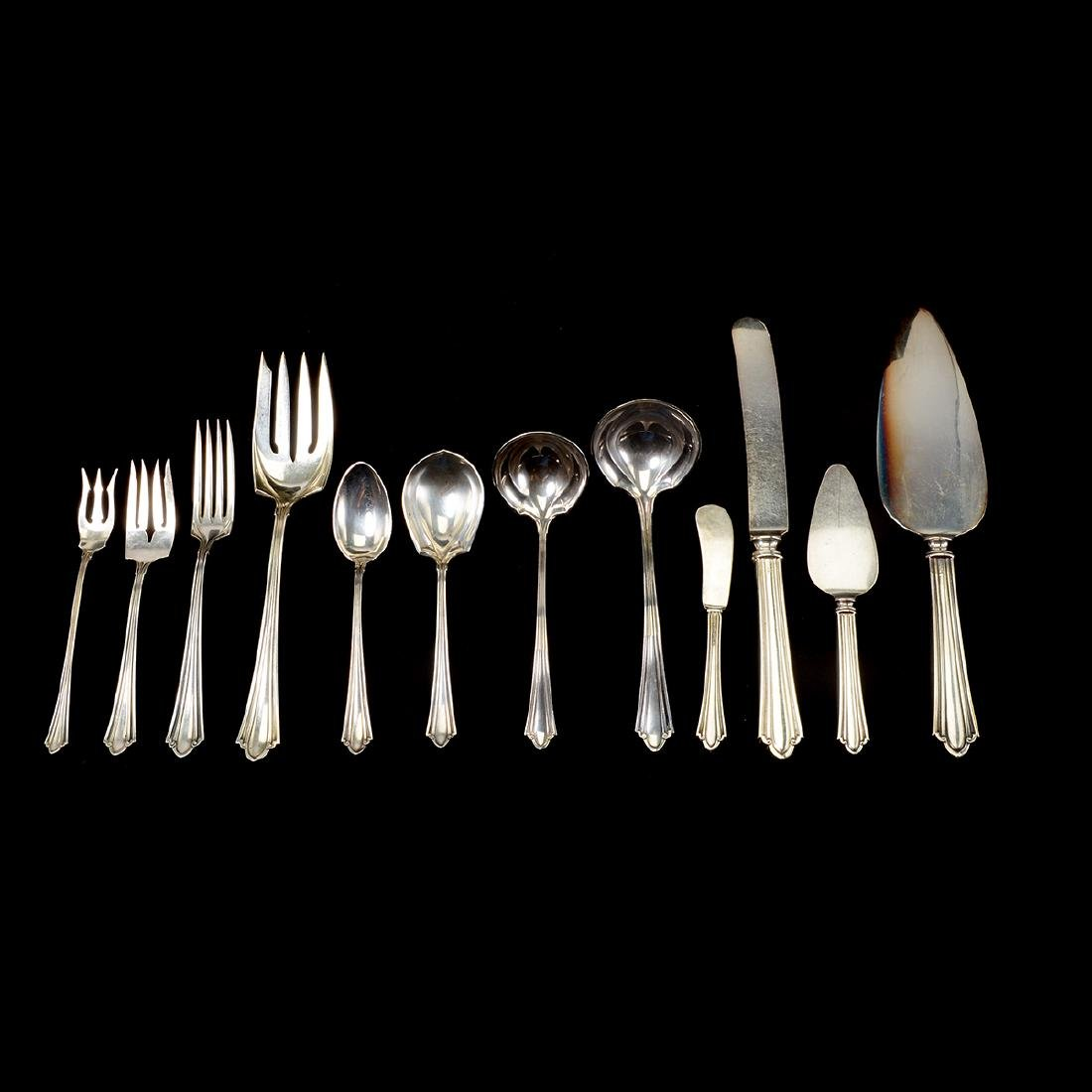 J.S. Co. Sterling Flatware Set