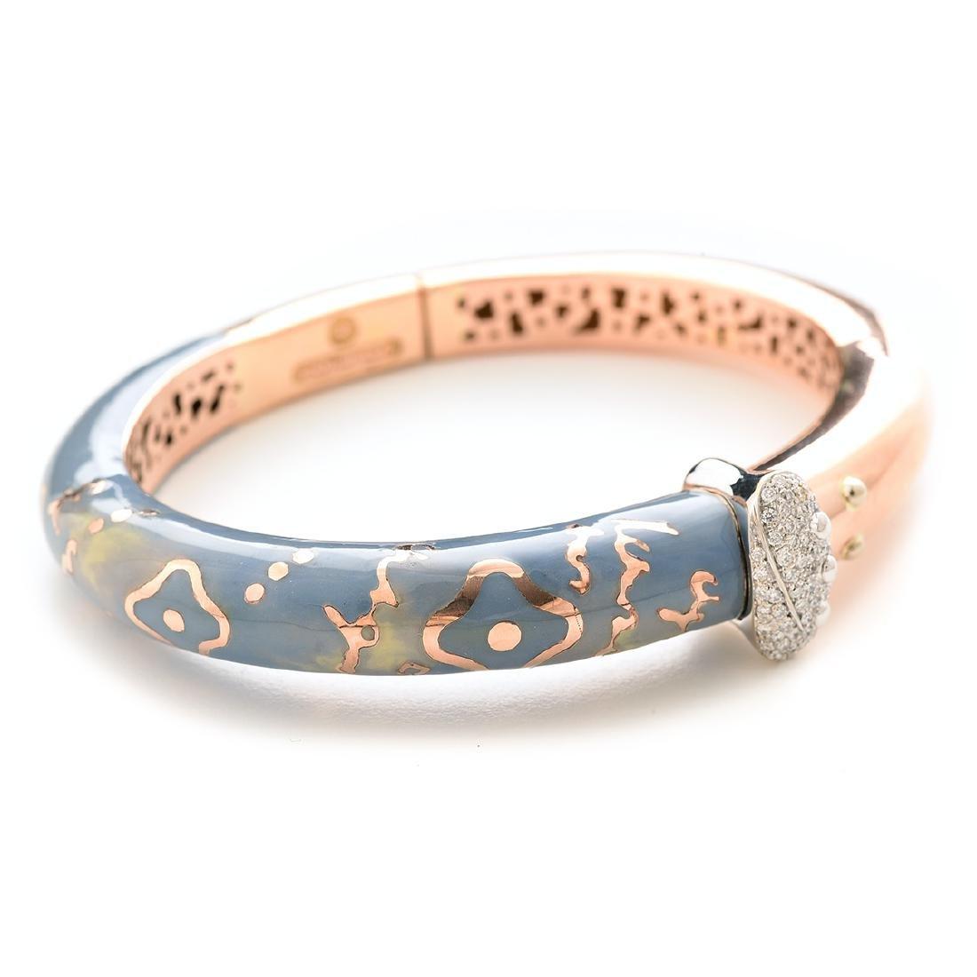 La Nouvelle Bague Diamond, Enamel, 18k Gold Bracelet.