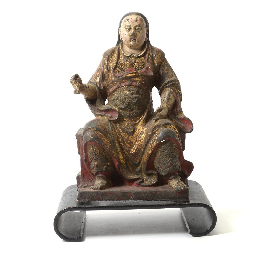 Cast Iron Figure of an Official, Ming Dynasty