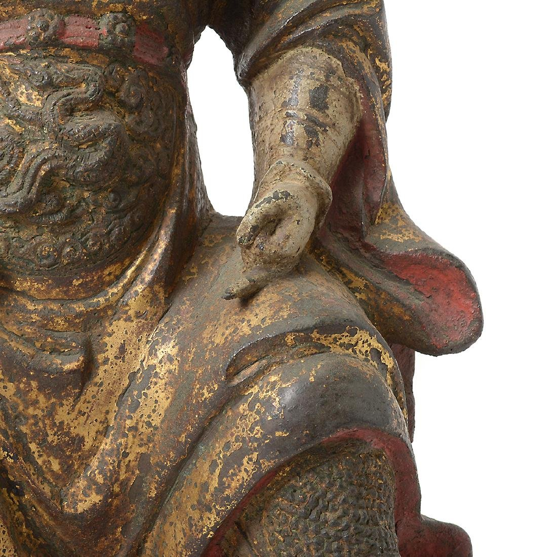 Cast Iron Figure of an Official, Ming Dynasty - 3