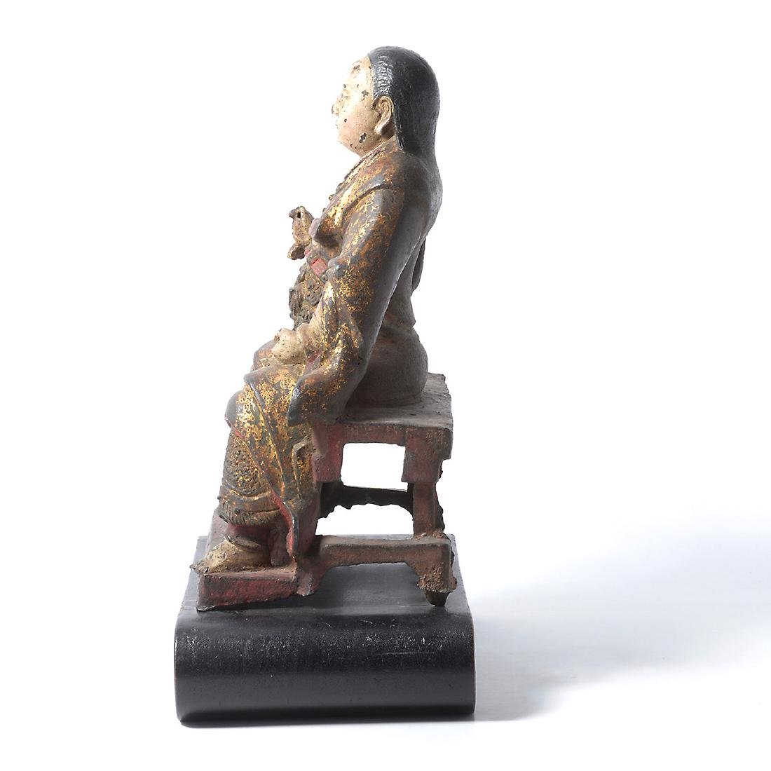 Cast Iron Figure of an Official, Ming Dynasty - 9