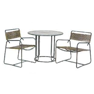 Suite Of Walter Lamb Bronze Outdoor Furniture