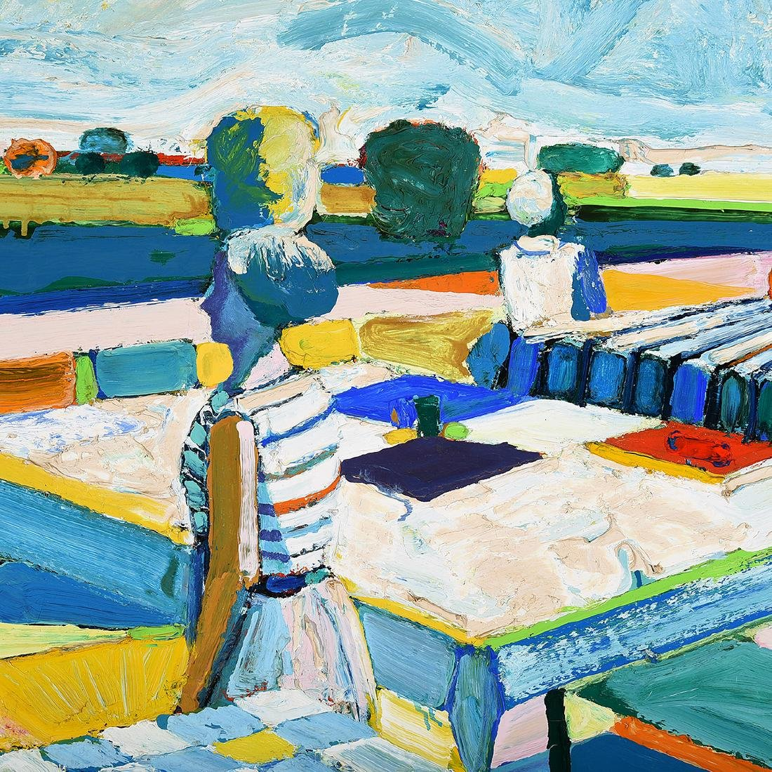 "Roland Petersen ""Tea for Two"" oil on canvas - 3"