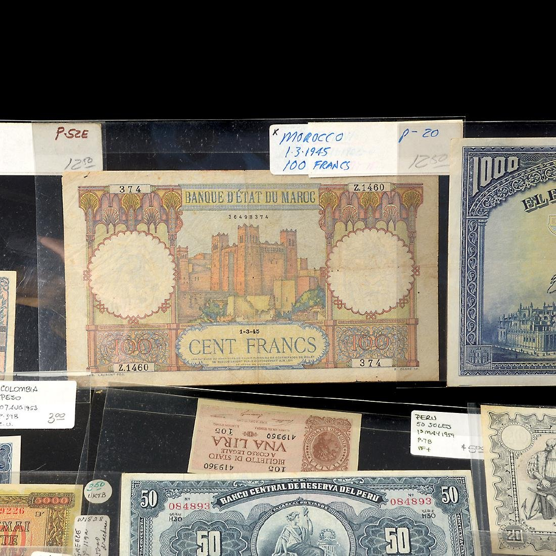 Worldwide Collection of Paper Money (approximately 200) - 2