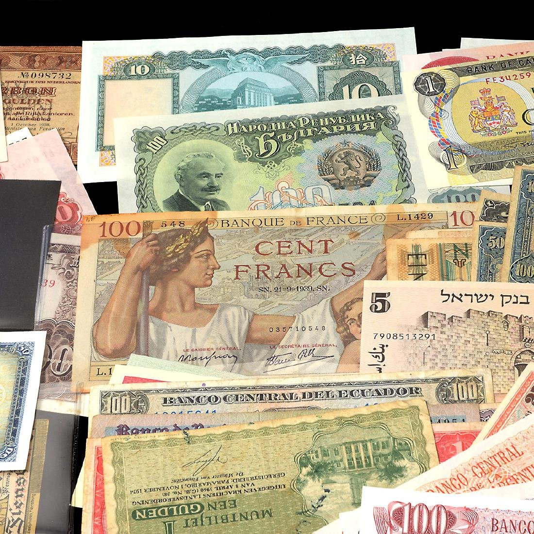 Worldwide Collection of Paper Money (approximately 200) - 3