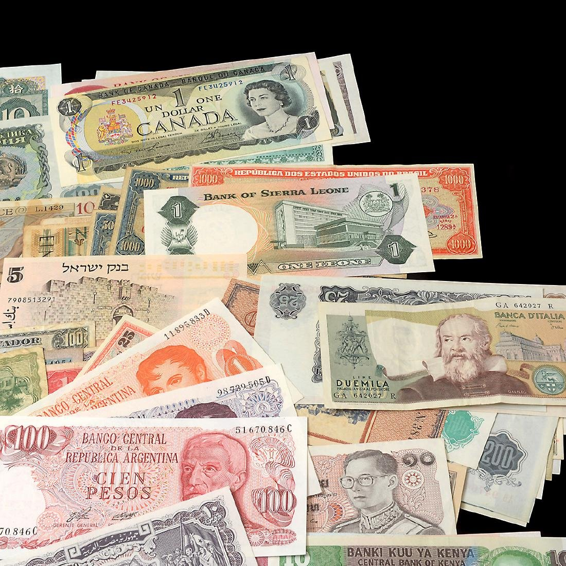 Worldwide Collection of Paper Money (approximately 200) - 4