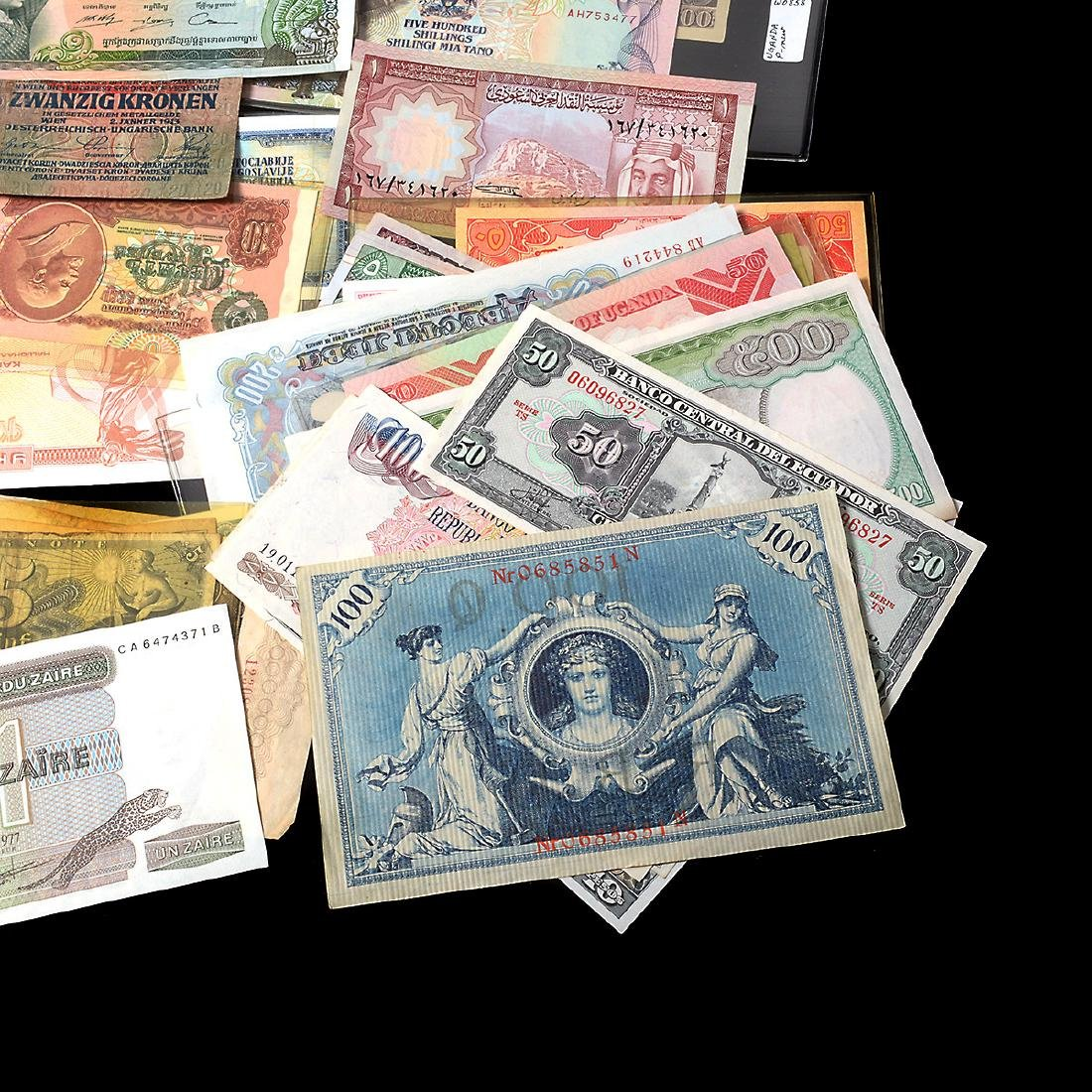 Worldwide Collection of Paper Money (approximately 200) - 10