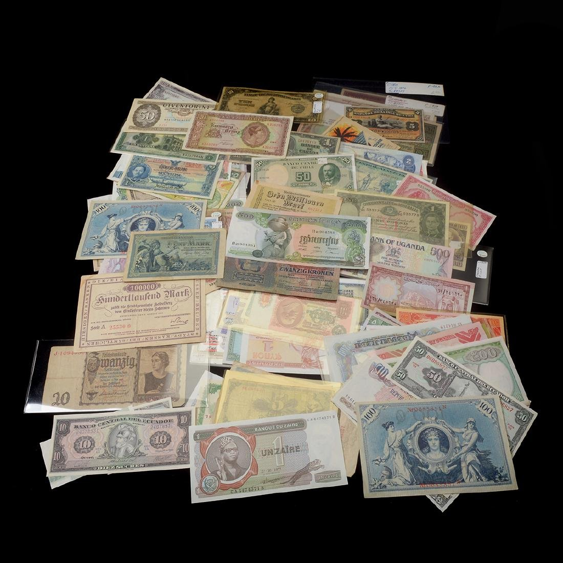 Worldwide Collection of Paper Money (approximately 200)