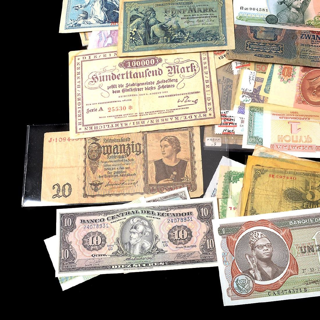 Worldwide Collection of Paper Money (approximately 200) - 6