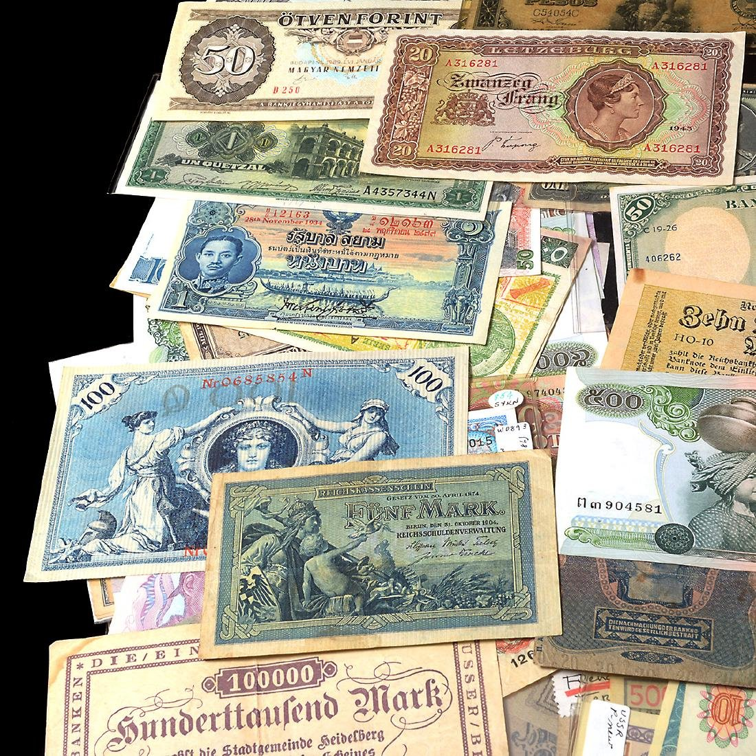 Worldwide Collection of Paper Money (approximately 200) - 9