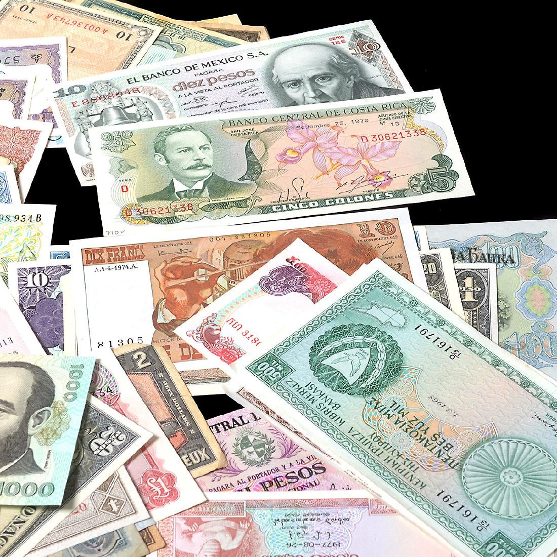 Worldwide Collection of Paper Money (approximately 200) - 5