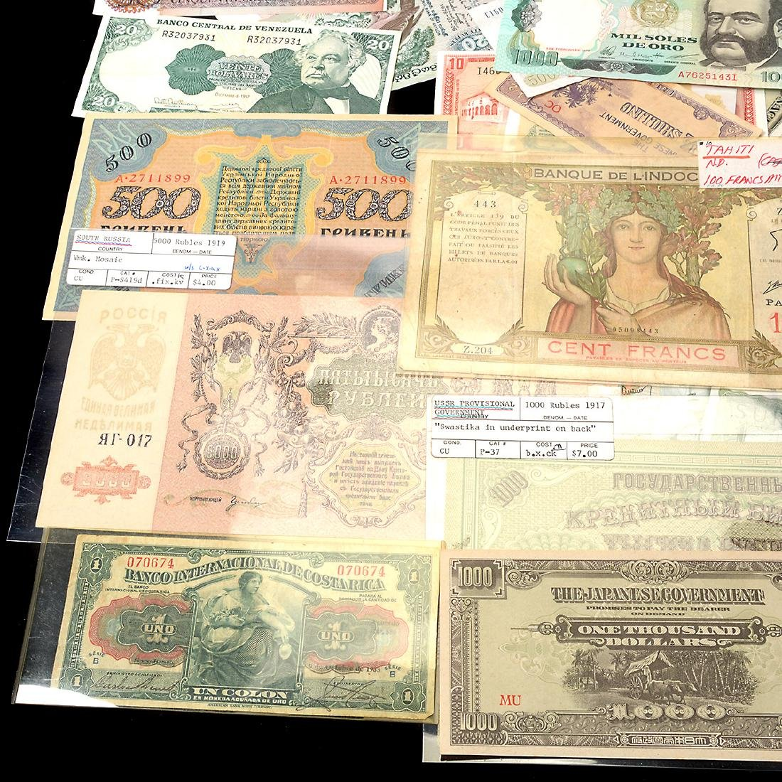 Worldwide Collection of Paper Money (approximately 200) - 7
