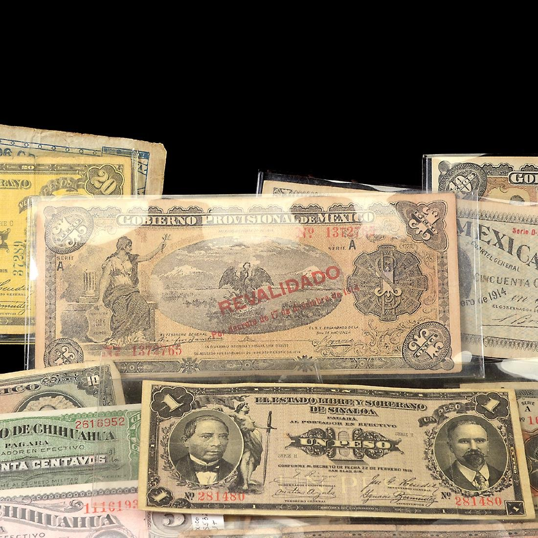Collection of Mexican Paper Money (approximately 75) - 10