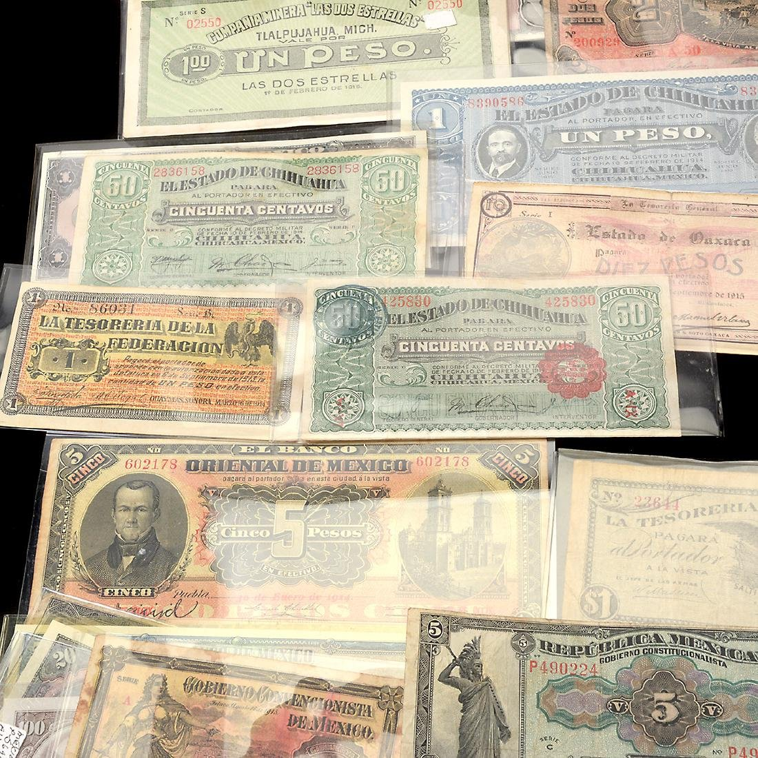 Collection of Mexican Paper Money (approximately 75) - 6