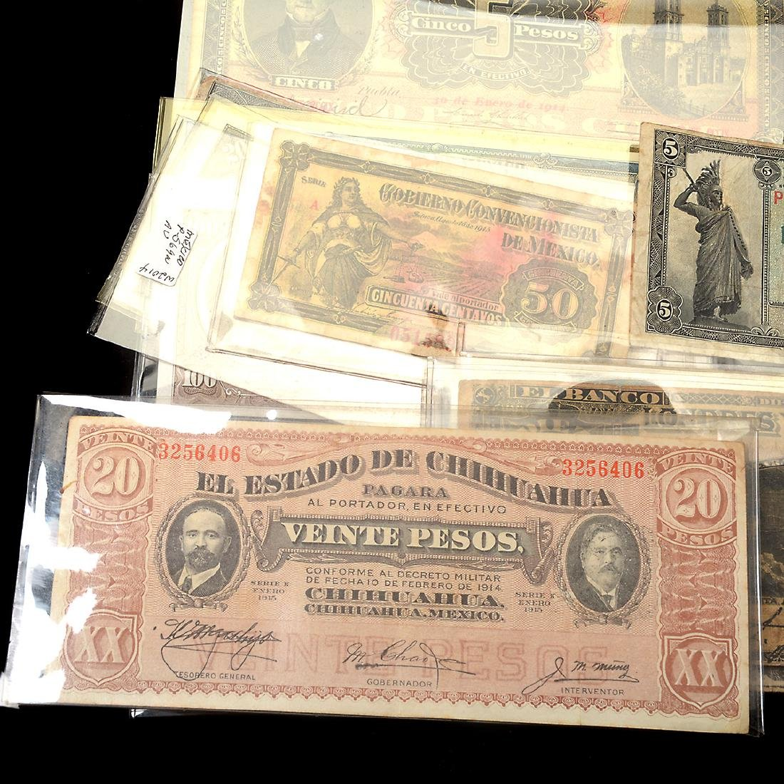 Collection of Mexican Paper Money (approximately 75) - 9