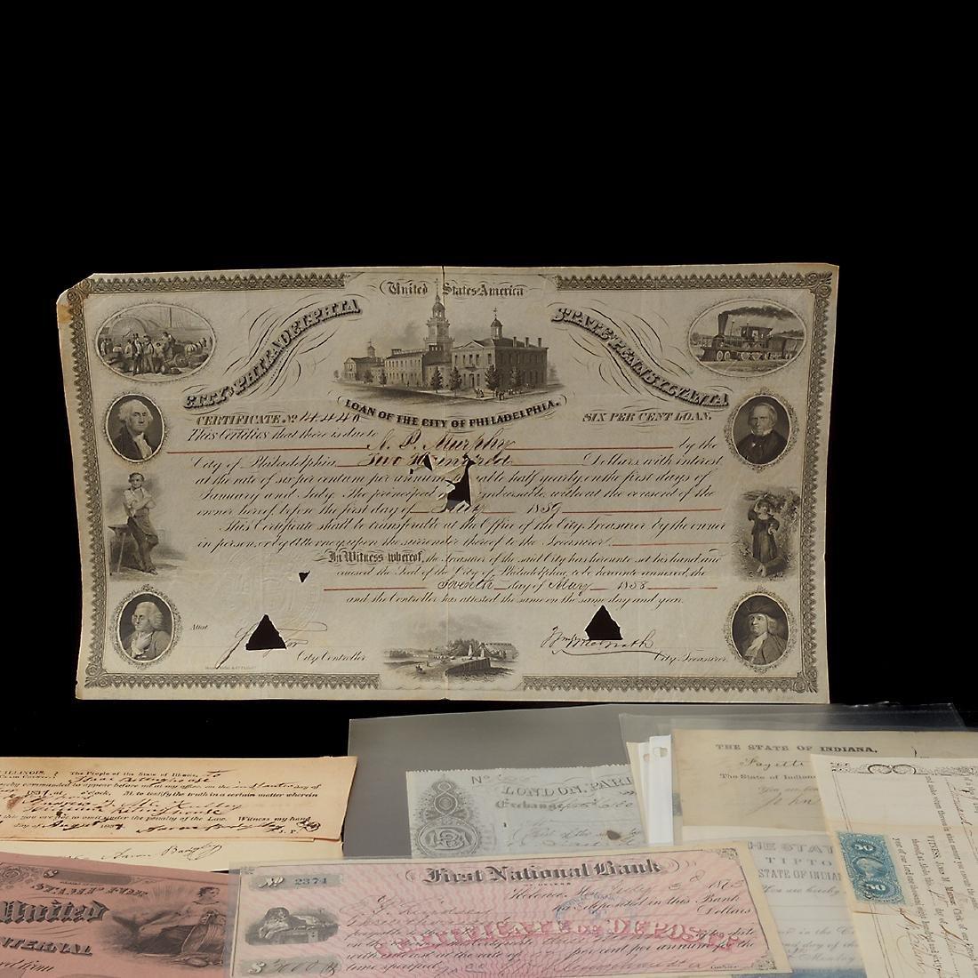 U.S Revenue Papers & Checks, 19th Century (100) - 2