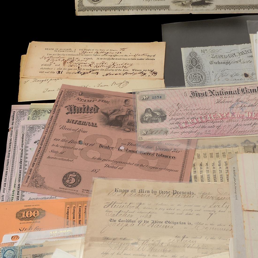 U.S Revenue Papers & Checks, 19th Century (100) - 3