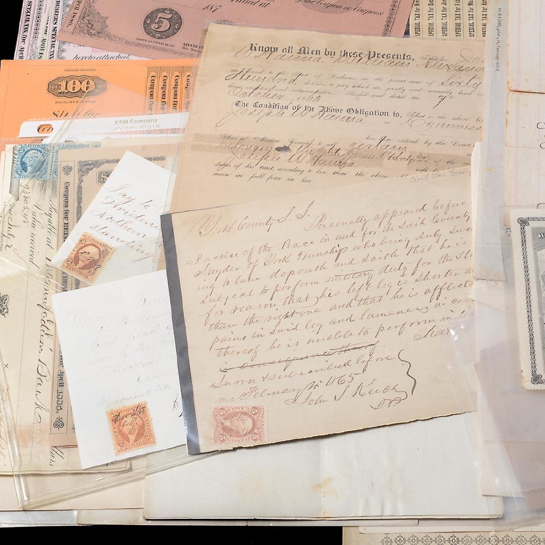 U.S Revenue Papers & Checks, 19th Century (100) - 5