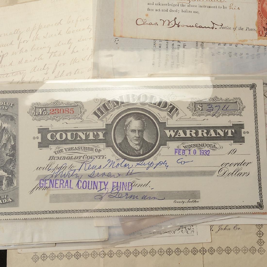 U.S Revenue Papers & Checks, 19th Century (100) - 6