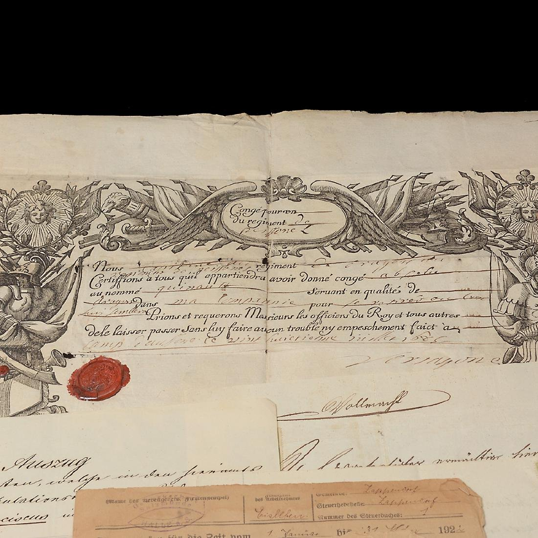 World Revenue Papers, Early 19th Century (50 Pieces) - 2