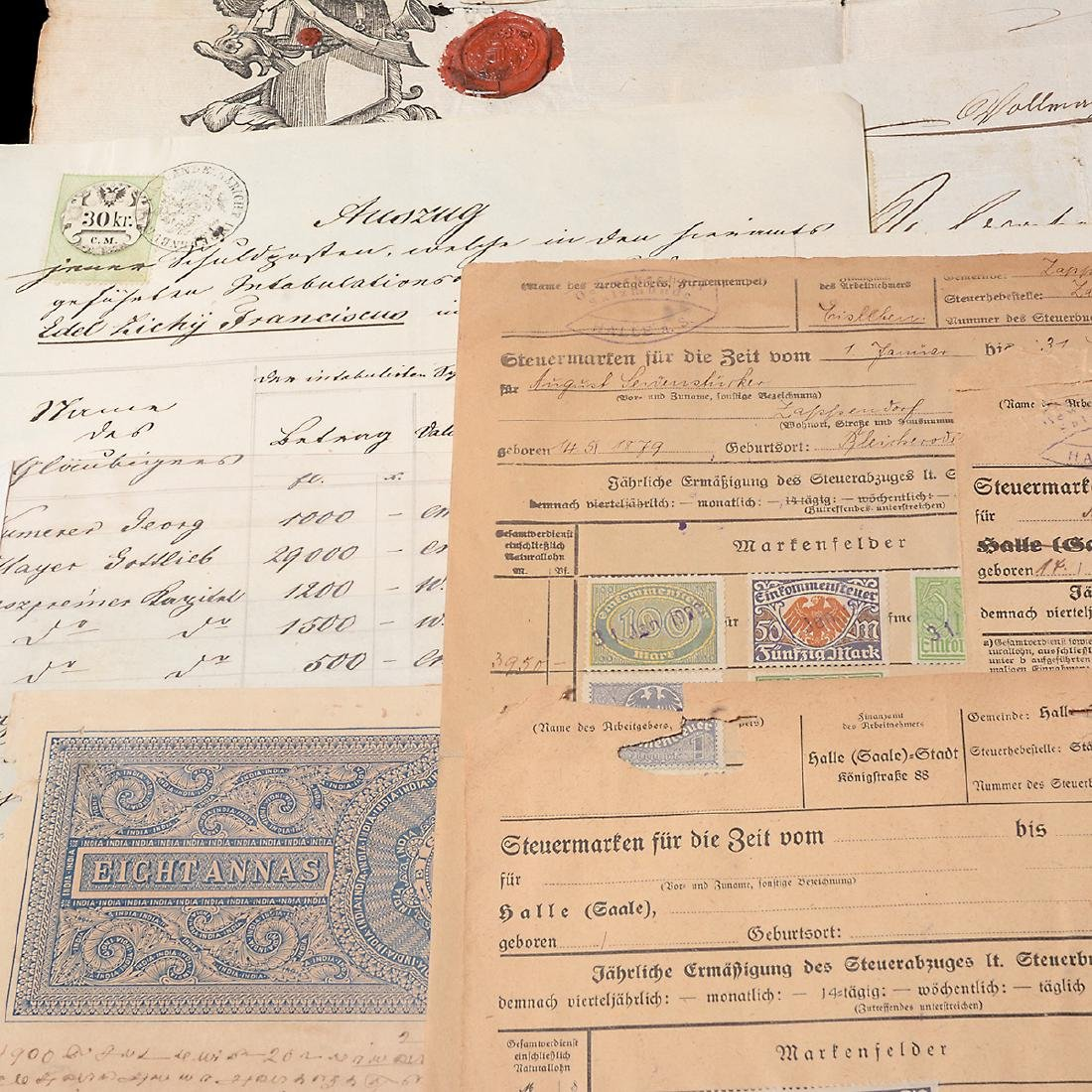 World Revenue Papers, Early 19th Century (50 Pieces) - 3