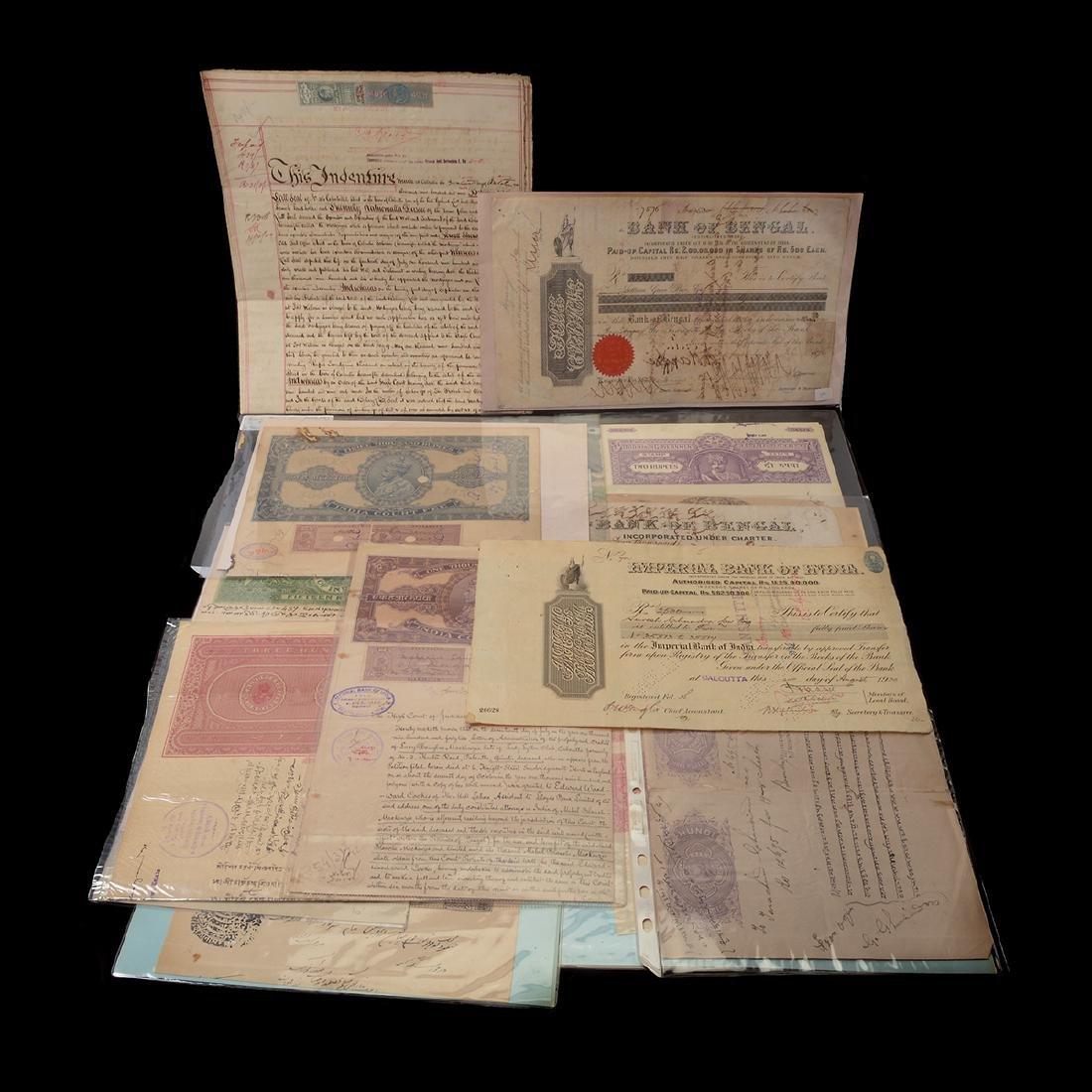 India Revenue Papers, 19th Century (26 Pieces)