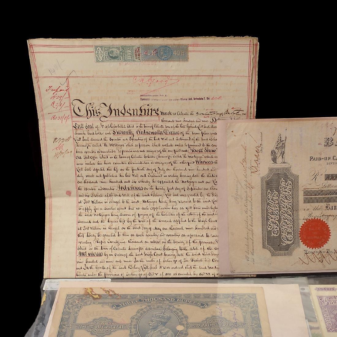 India Revenue Papers, 19th Century (26 Pieces) - 2
