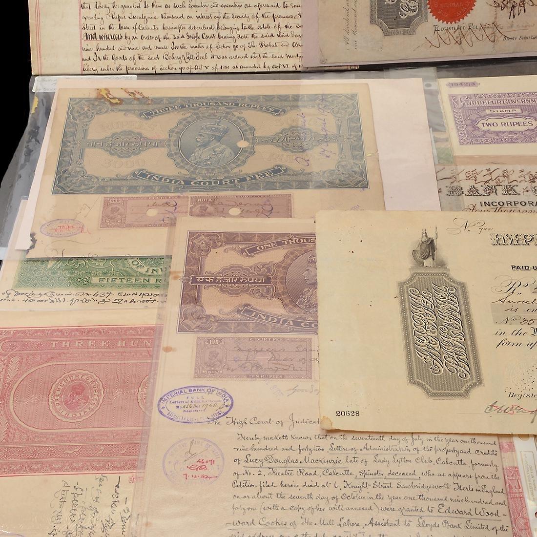 India Revenue Papers, 19th Century (26 Pieces) - 5