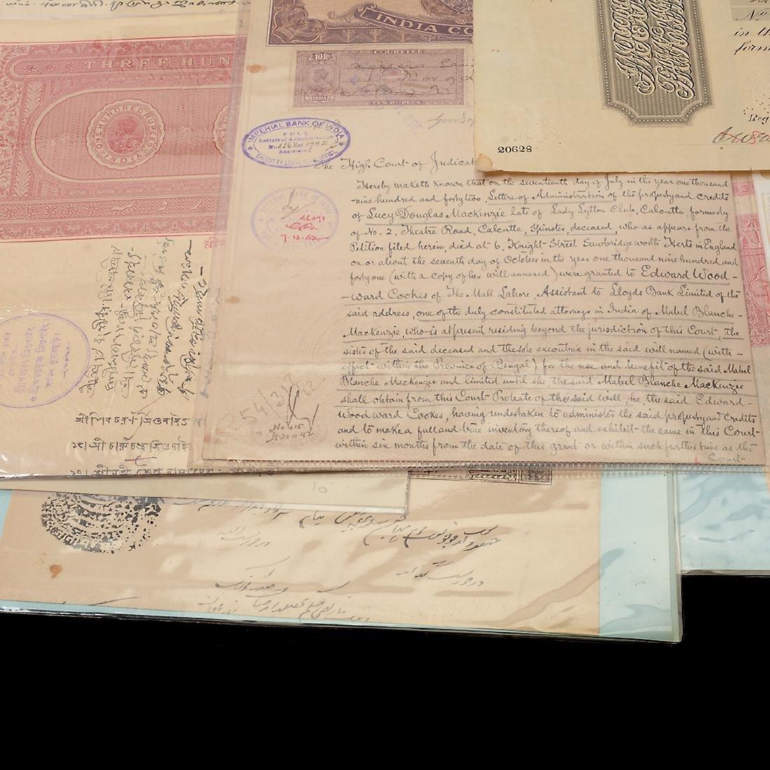 India Revenue Papers, 19th Century (26 Pieces) - 7