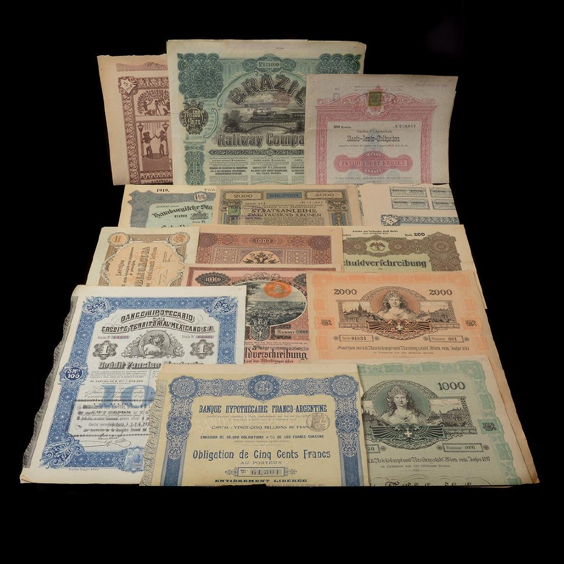 World Bonds, Early 20th Century (27 Pieces)