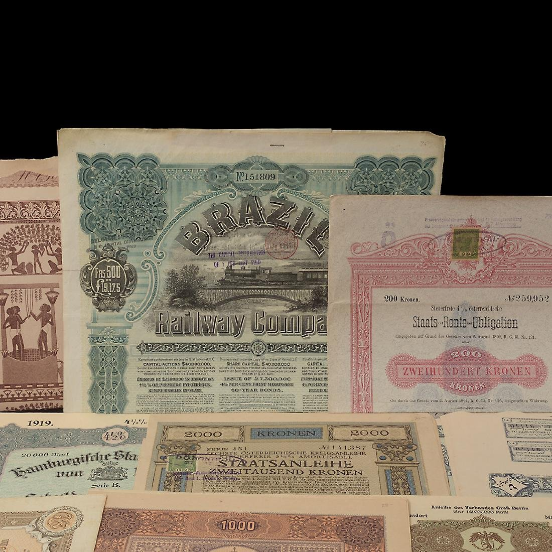 World Bonds, Early 20th Century (27 Pieces) - 2