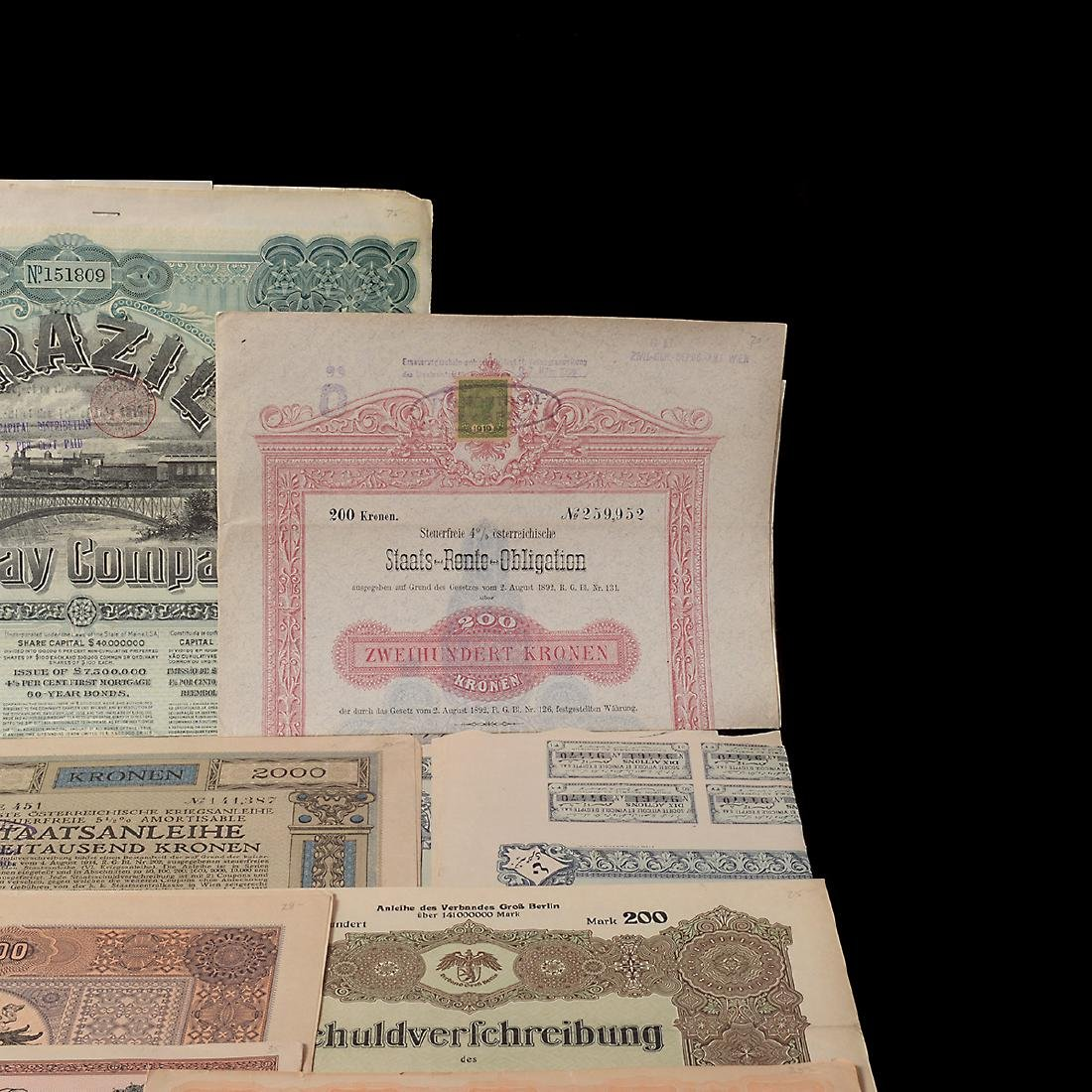 World Bonds, Early 20th Century (27 Pieces) - 3