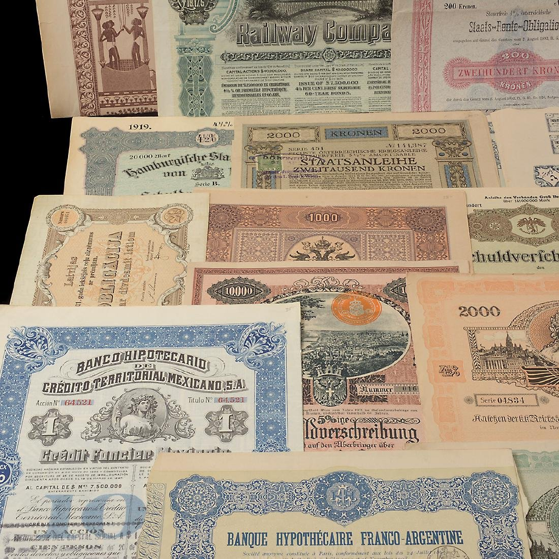 World Bonds, Early 20th Century (27 Pieces) - 4