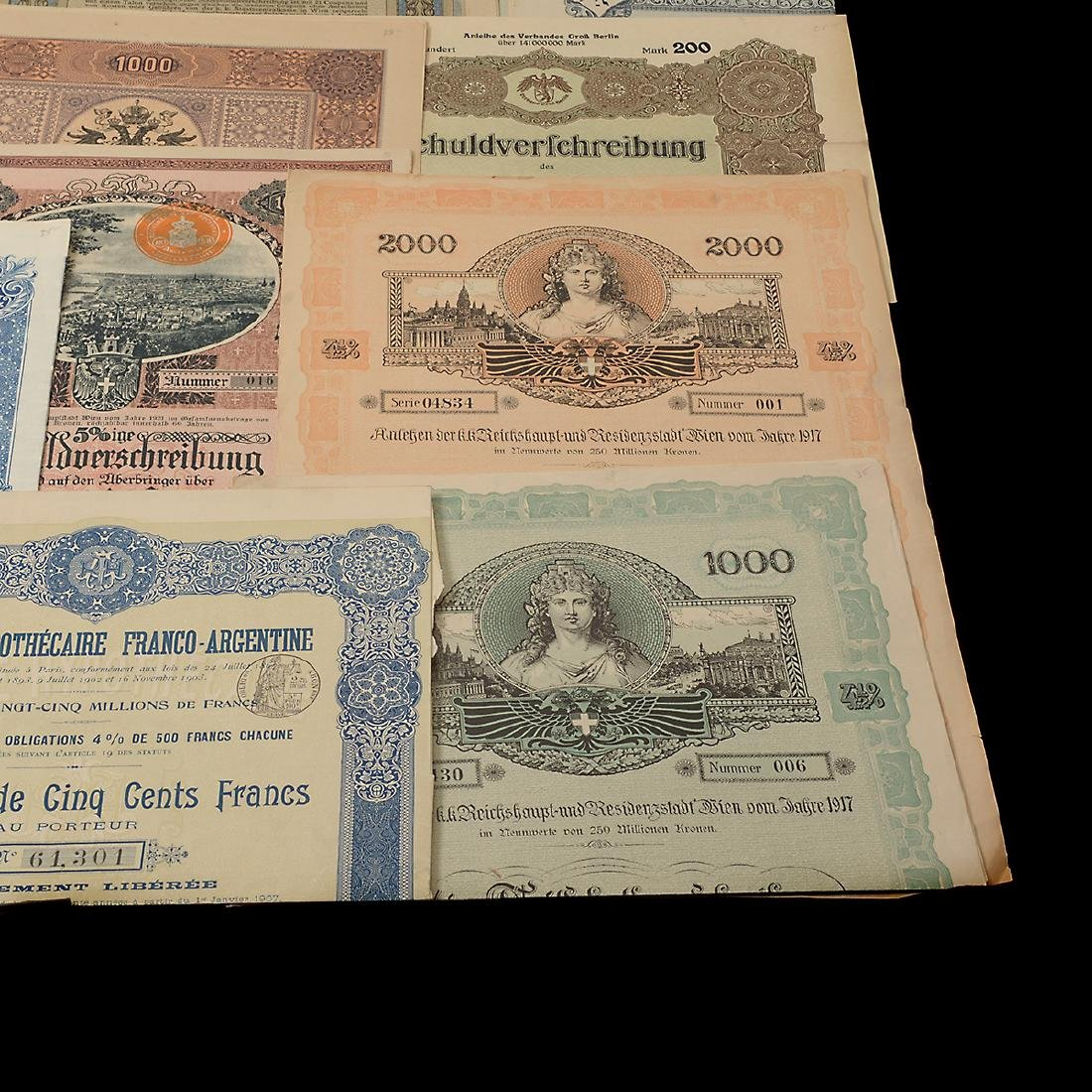 World Bonds, Early 20th Century (27 Pieces) - 5